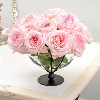 blumenstrau 10 intensiv duftende rosen pink o hara von. Black Bedroom Furniture Sets. Home Design Ideas