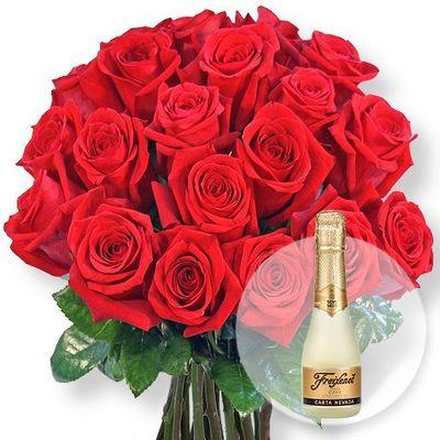 blumenstrau 20 rote rosen von valentins auf. Black Bedroom Furniture Sets. Home Design Ideas