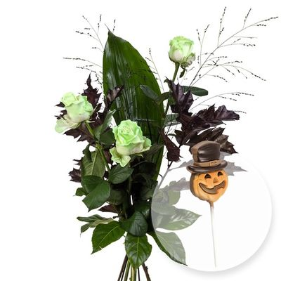 blumenstrau 3 fluoresziere rosen von valentins auf. Black Bedroom Furniture Sets. Home Design Ideas