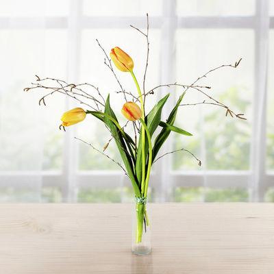 Blumenstrauss Apricotfarbene Tulpen Von Blume2000 De Auf Blumen De