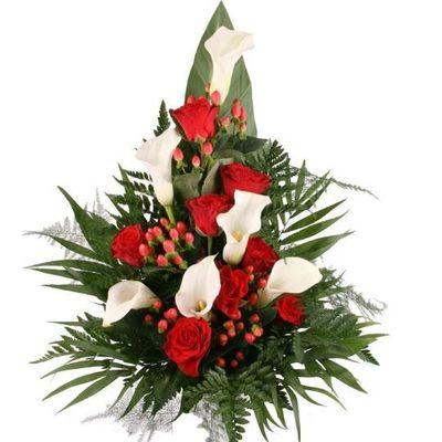 Blumenstrauss Premium Grabstrauss Rot Weiss Von Blumenfee Auf Blumen De
