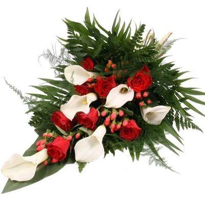 Blumenstrauss Premium Trauerstrauss Rot Weiss Von Blumenfee Auf Blumen De