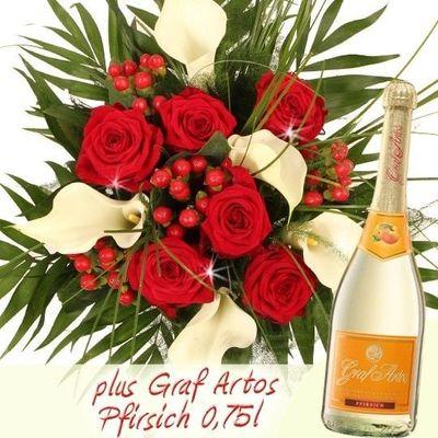 Blumenstrauss Premiumstrauss In Rot Weiss Von Blumenfee Auf Blumen De