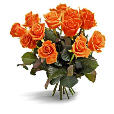 blumenstrau rosenstrau in orange von euroflorist auf. Black Bedroom Furniture Sets. Home Design Ideas