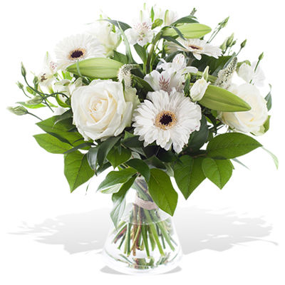 Blumenstrauss Traum In Weiss Von Fleurop Auf Blumen De